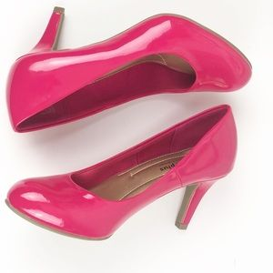 Hot Pink Comfort Plus Heels by Prediction Shoe